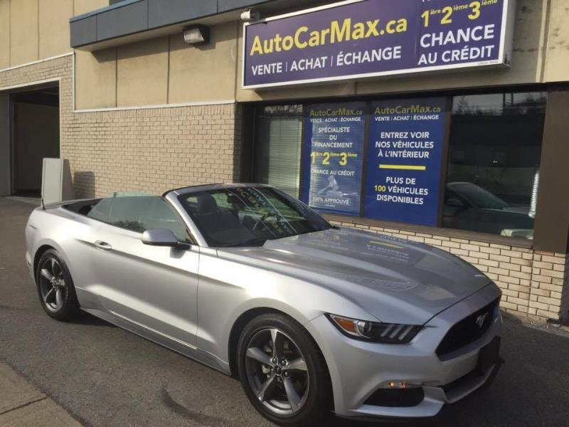 Used Ford Mustang V Convertible Cam De Recul Condition Showroom For Sale Auto Car Max In Montreal
